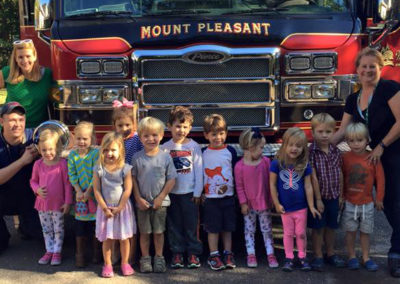 Preschool With Mt. Pleasant Fire Department